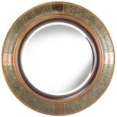 Elliott Wall Mirror in Aged Copper