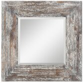 Keitts Mirror in Distressed Rustic White Wash