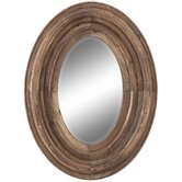Aaron Mirror in Distressed Natural Rustic Wood