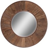 Riley Mirror in Distressed Natural Rustic Wood