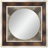Bella Mirror in Distressed Brown and Burnished Silver