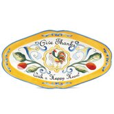 Ricamo Give Thanks Serving Tray