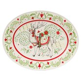 "Winter White Holiday 16"" Oval Platter"