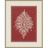 Raspberry Paisley Wall Art in Red