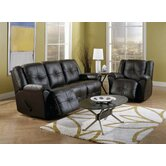 Buzz 2 Piece Reclining Leather Living Room Set