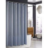 Parc East Bricks Shower Curtain in Slate Blue