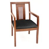 Preston Guest Side Chair with Transitional Wood Back