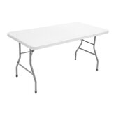 "Blow Mold 60"" x 30"" Rectagular Table"