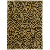 Home Nylon West Indies Safari Black Novelty Rug