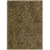 Home Nylon West Indies Safari Dark Brown Novelty Rug