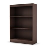 Axess Three Shelf Bookcase in Chocolate