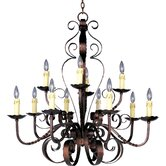 Aspen 12 Light Candle Chandelier