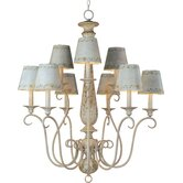 French Country 9 Light Chandelier