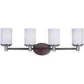 Cylinder Four Light Bath Vanity