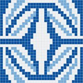 "Urban Essentials 24"" x 24"" Gothic Ornament Mosaic Pattern Tile in Lakefront Blue"