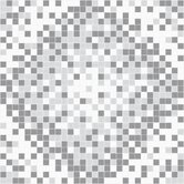 Urban Essentials Scatter Mosaic Pattern Tile in Calm Grey