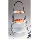Black Round Triple Tiered Plate Stand