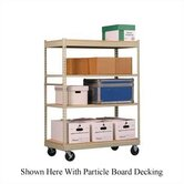 Inventory Carts with White Melamine Deck