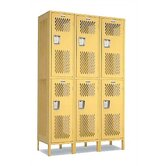 Invincible II Double Tier 3 Wide Locker (Unassembled)