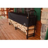 96&quot; Covered Firewood Rack