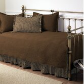 Trellis 5 Piece Daybed Set in Chocolate