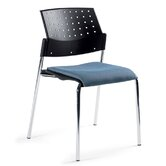 Sonic Stacking Chair with Upholstered Seat