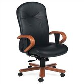 High-Back Leather Multi-Tilter Office Chair