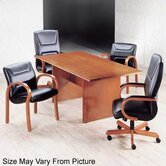 "Contempory 72"" W Rectangular Veneer Conference Table"