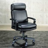 High-Back Leather Executive Chair with Spider Base