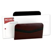 7000 Series Contemporary Leather Letter Holder in Burgundy