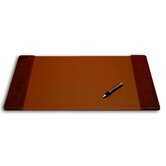 1000 Series Classic Leather 25.5 x 17.25 Side-Rail Desk Pad in Mocha