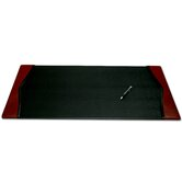 7000 Series Contemporary Style Leather 34 x 20 Side-Rail Desk Pad in Burgundy