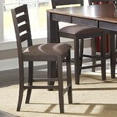 5341 Series Counter Height Dining Chair in Distressed Warm Espresso