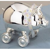 Children's Giftware 4.25&quot; x 5.13&quot; Piggy with Wheels Bank