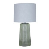 """Fluted 21.75"""" H Table Lamp with Drum Shade"""