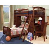 School House Twin Student L-Shaped Bed with Additional Lower Bed