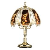 Rose Touch Lamp with Brushed Gold Base