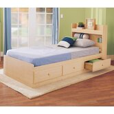 My Space, My Place Storage Twin Bedroom Set in Maple