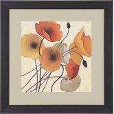 Pumpkin Poppies II Framed Artwork