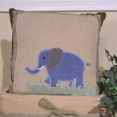 On Safari Elephant Pillow