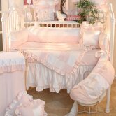 nPrincess Pink Deluxe 4 Piece Crib Bedding Set