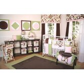 Modern Baby Girl Caffe 4 Piece Crib Bedding Set