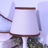 Blue Chocolate Lampshade in Blue Gingham