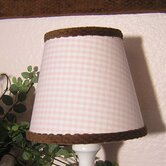 Pink Chocolate Lampshade in Pink Gingham