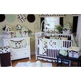 Minky Lemon Chocolate Polka Dot Crib Bedding Collection