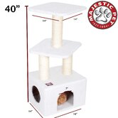 40&quot; Bungalow Sherpa Cat Tree