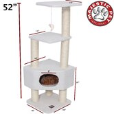 "52"" Bungalow Sherpa Cat Tree"