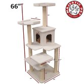 66&quot; Bungalow Sherpa Cat Tree