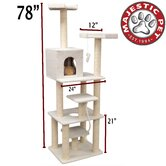78&quot; Bungalow Sherpa Cat Tree