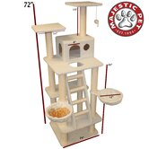 "72"" Bungalow Sherpa Cat Tree"